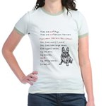 THEY are not Pugs (Smiling Frenchie) Jr. Ringer T-