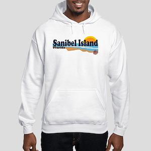 Sanibel Island FL - Beach Design Hooded Sweatshirt