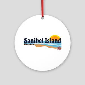 Sanibel Island FL - Beach Design Ornament (Round)