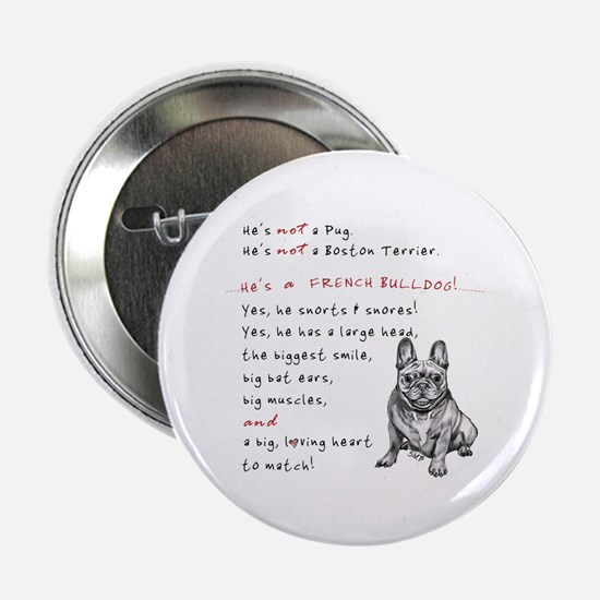 "HE'S not a Pug! (Smiling) 2.25"" Button"