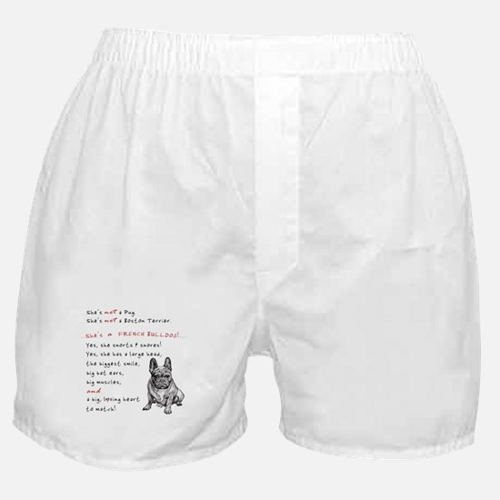 SHE'S not a Pug! (Serious) Boxer Shorts