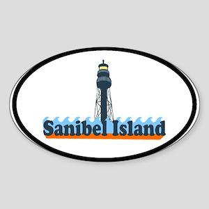 Sanibel Island FL - Lighthouse Design Sticker (Ova