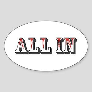 All In Oval Sticker