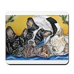 Frenchies & Mini Nativity Mousepad