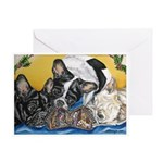Frenchies & Mini Nativity Greeting Card