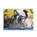 Frenchies & Mini Nativity Postcards (Pk of 8)
