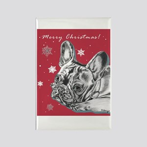 Frenchie Christmas Rectangle Magnet