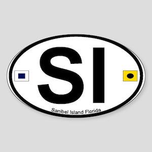 Sanibel Island FL Oval Sticker