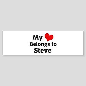 My Heart: Steve Bumper Sticker