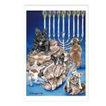 Frenchie Christmas Postcards (Package of 8)