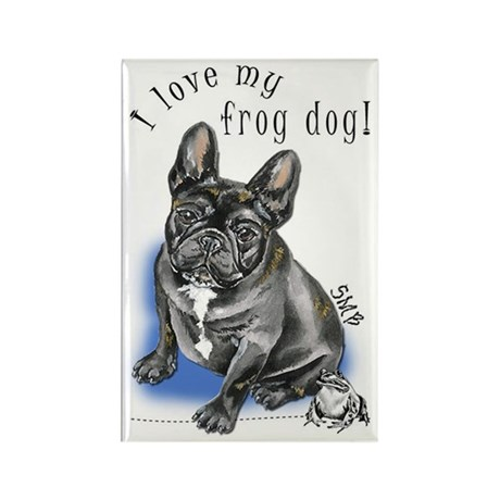 Frog Dog (BRINDLE, BOY) Rectangle Magnet (10 pack)