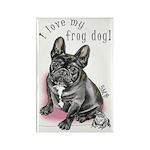 Frog Dog (BRINDLE, GIRL) Rectangle Magnet (10 pk)