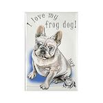 Frog Dog (CREAM, BOY) Rectangle Magnet (10 pack)