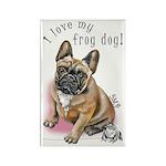 Frog Dog (BM FAWN, GIRL) Rectangle Magnet (10 pk)