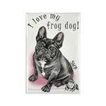Frog Dog (BRINDLE, GIRL) Rectangle Magnet