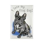 Frog Dog (BRINDLE, BOY) Rectangle Magnet