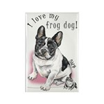 Frog Dog (PIED, GIRL) Rectangle Magnet