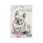 Frog Dog (CREAM, GIRL) Rectangle Magnet