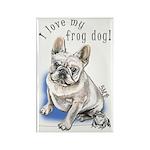 Frog Dog (CREAM, BOY) Rectangle Magnet