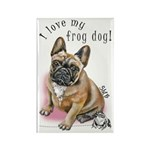 Frog Dog (BM FAWN, GIRL) Rectangle Magnet