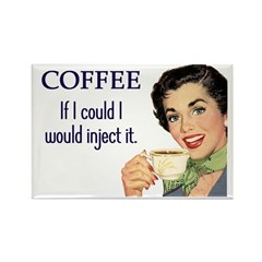 Coffee Junkie Rectangle Magnet