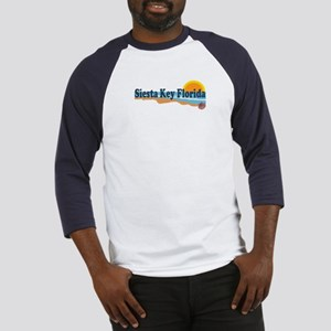 Siesta Key FL - Beach Design Baseball Jersey
