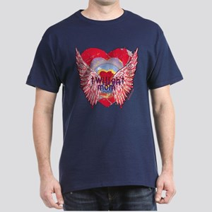 Twilight Mom Crimson Grunge Winged Crest Dark T-Sh