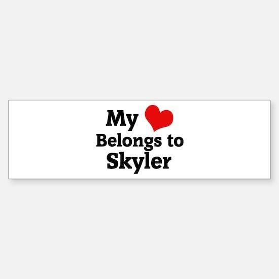 My Heart: Skyler Bumper Bumper Bumper Sticker