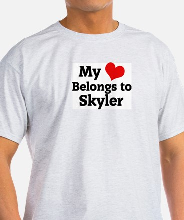 My Heart: Skyler Ash Grey T-Shirt