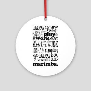 Marimba Life Ornament (Round)