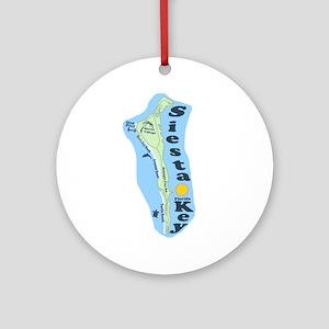 Siesta Key FL Ornament (Round)