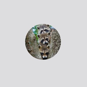 Baby Raccoon Trio Mini Button