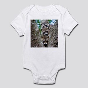 Baby Raccoon Trio Infant Bodysuit