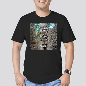Baby Raccoon Trio Men's Fitted T-Shirt (dark)