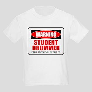 Student Drummer Kids Light T-Shirt