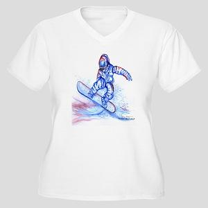 Snowboarder III Women's Plus Size V-Neck T-Shirt