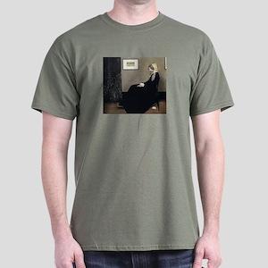 Whistler's Mother's Cat Dark T-Shirt
