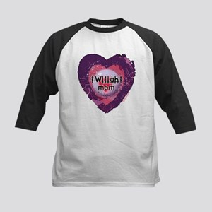 Twilight Mom Violet Grunge Heart Kids Baseball Jer
