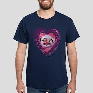 Twilight Mom Violet Grunge Heart Dark T-Shirt