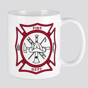 Fire Dept Maltese Cross Mug