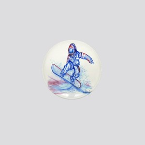 Snowboarder III Mini Button