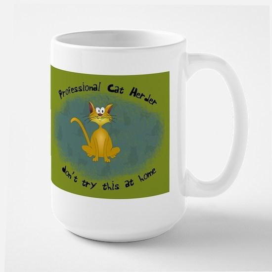 Professional Cat Herder Funny Large Mug