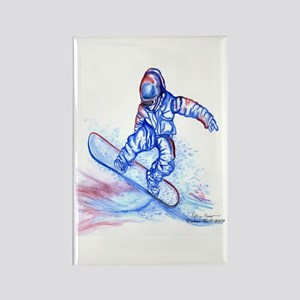 Snowboarder III Rectangle Magnet