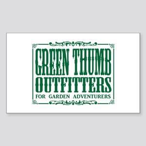 Green Thumb Outfitters Rectangle Sticker