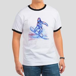 Snowboarder III Ringer T