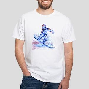 Snowboarder III White T-Shirt