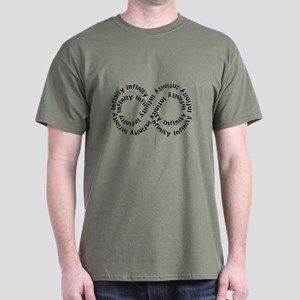 Infinity (text string) Dark T-Shirt