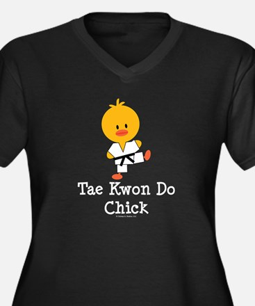 Tae Kwon Do Chick Women's Plus Size V-Neck Dark T-