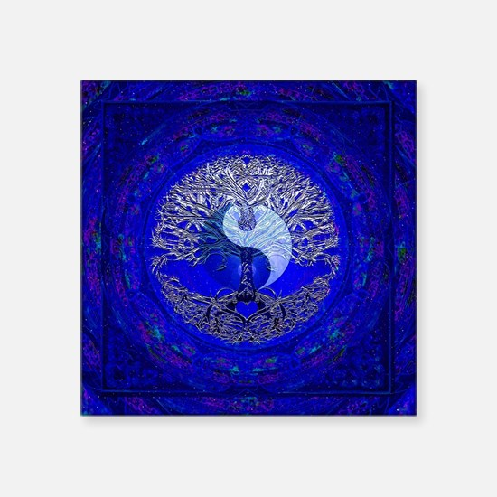 Blue Yin Yang Sticker