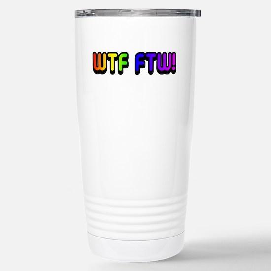 WTF FTW Stainless Steel Travel Mug